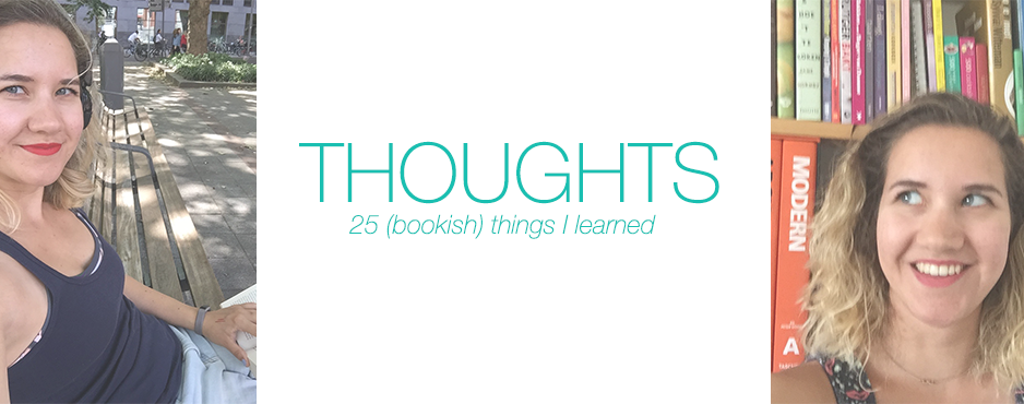 Thoughts: 25 bookish things I learned